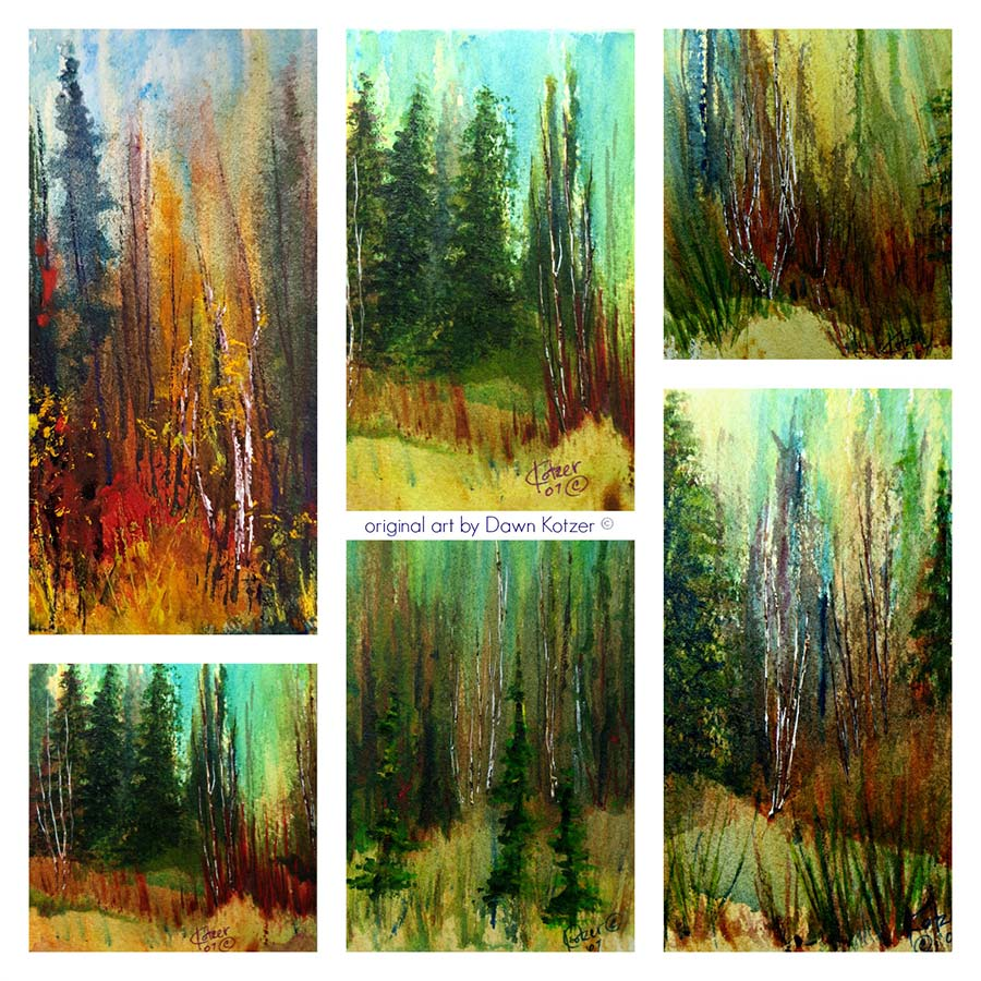 Boreal Forest Art Collection Boreal Forest Art Collection- Watercolour originals by Dawn Kotzer Watercolour originals by Dawn Kotzer