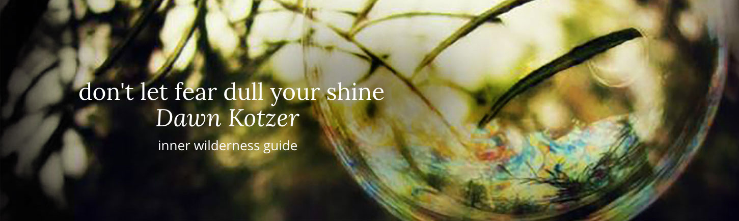 Don't let fear dull your shine - DAWN KOTZER - inner wilderness guide