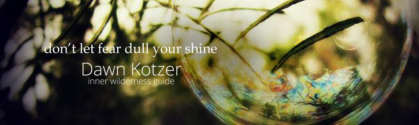 don't let fear dull your shine - Dawn Kotzer - Inner Wilderness Guide