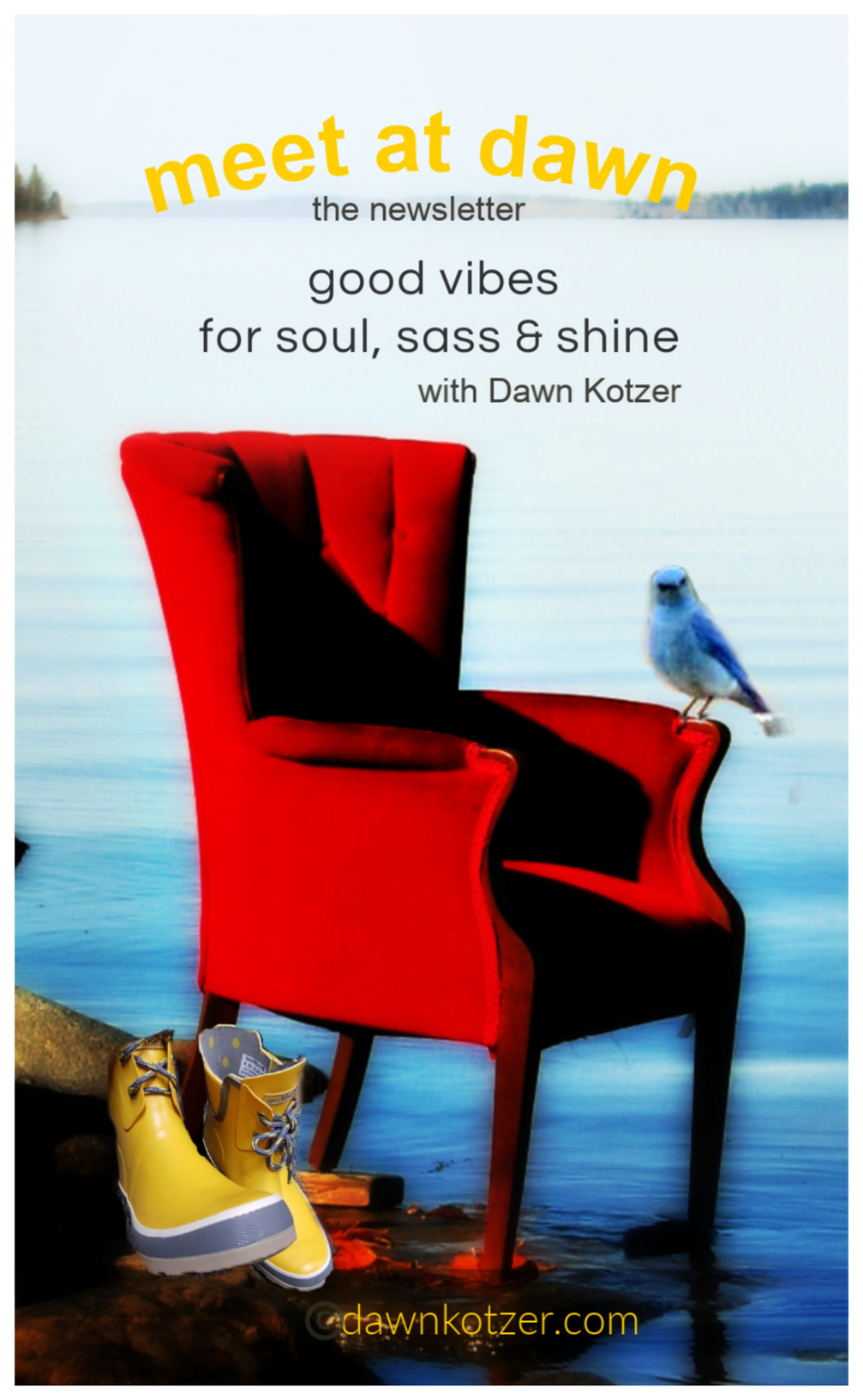 Meet At Dawn — the newsletter, good vibes with soul, sass, and shine with Dawn Kotzer. Subscribe.